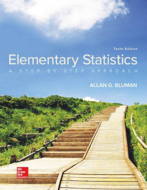 EBOOK : Elementary Statistics : A step By Step Approach, 10th Edition