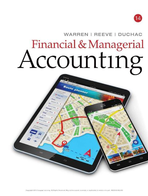 EBOOK : Financial and Managerial Accounting, 14th Edition