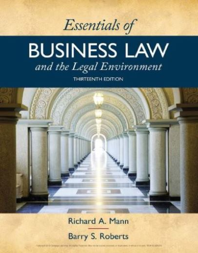 EBOOK : Essentials of Business Law and the Legal Environment, 13th Edition