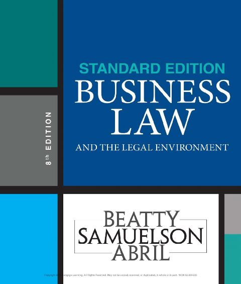 EBOOK : Business Law and the Legal Environment— Standard Edition, 8th Edition