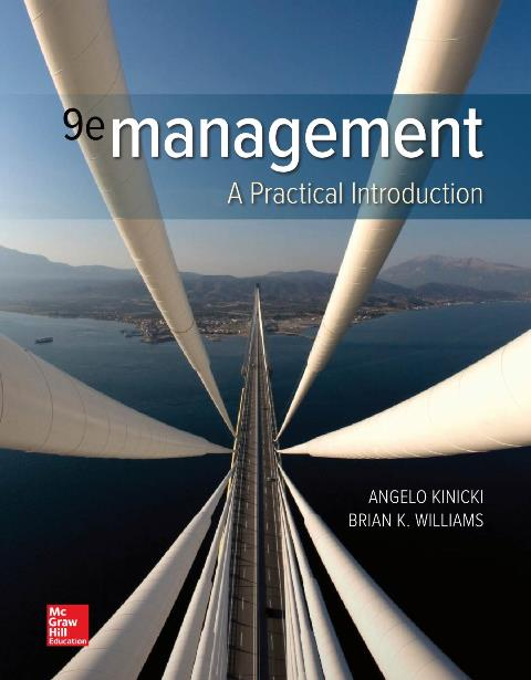 EBOOK : Management A Practical Introduction, 9th Edition