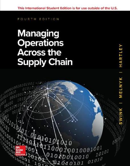 EBOOK : Managing Operations ;Across the Supply Chain , 4th Edition