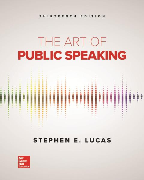 EBOOK : The Art of Public Speaking, 13th Edition