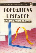 Operations Reearch : Model - Model Pengambilan Kep.
